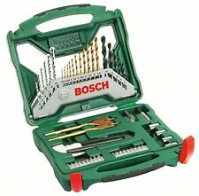 Bosch 50 Piece X Line Accessory Set Drill Bits Bit NEW FREE P&P