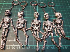 Greece Greek Vintage 80's Key Chain rings with skeletons lot of 5 pieces used!
