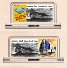Railroad billboard signs HO scale READING /New Jersey Central CRUSADER set 1