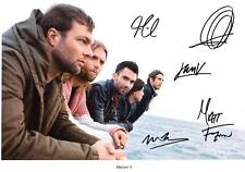 MAROON 5 AUTOGRAPHED SIGNED A4 PP POSTER PHOTO