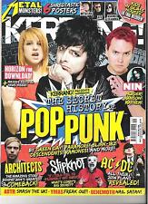 KERRANG #1506 POP PUNK GREEN DAY:PARAMORE:SLIPKNOT:bLINK 182:RAMONES+POSTERS