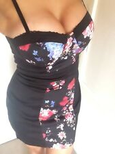 BNWT Jane Norman Floral Bodycon Corset Dress Size 8 Panel Celeb Rare Bustier