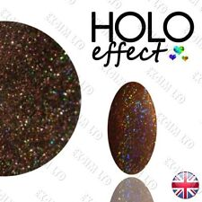 LASER Brown HOLO MERMAID EFFECT NAIL ART POWDER  Holographic   Coffee 17