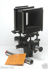 SINAR F LARGE FORMAT 4x5 BELLOWS MONORAIL FIELD FILM CAMERA