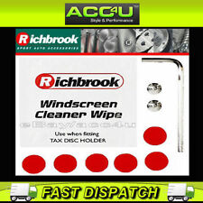 Richbrook Car Alloy Tax Disc Holder Clear Sticky Pads & Spares Kit