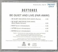 "Deftones ""Be Quiet and Live"" CD OOP Incubus Korn Team Sleep Live Tracks Drive"