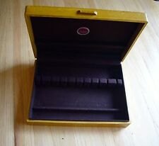 Vintage Naken's Wood Tarnish Proof  Silverware Flatware Chest Storage Box for 12