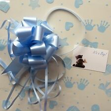 Cellophane gift wrap 2m x 80 cm-Blue Baby Shower Boy FREE PULL BOW & CARD