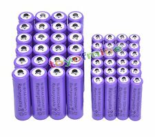 24 AA +24 AAA 1.2V 1800mAh 3000mAh NiMH Purple Rechargeable Battery Cell