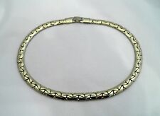 Vintage CORO Gold Tone Choker Thick Chain Necklace 15""