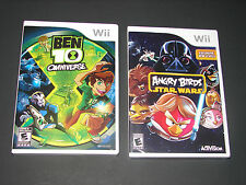 BEN 10 OMNIVERSE + ANGRY BIRDS STAR WARS  (2 Games KIDS Nintendo Wii Lot)