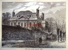 Antique 1876 'Old London' Engraved Print - 'The Old Clock House Hampstead, 1780'