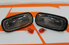 Pair Land Rover Defender XS SIDE WING clear repeaters indicators 90 110 + bulbs
