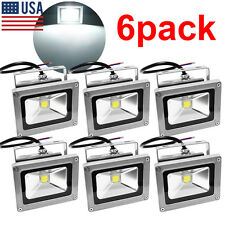 6pack 10W 120V LED Flood Light Spotlights White Outdoor Garden Lamp IP65 US