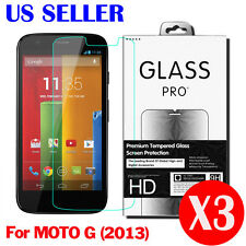 3X Real Tempered Glass Screen Protector for Motorola Moto G 1st Generation 2013