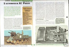 Self-propelled Automoteur M 7 Priest/ Continental R-975 USA WWII FICHE CHAR TANK