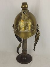 New South Wales Fire Brigade Merryweather Pattern Brass Firemans Helmet