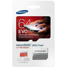 SAMSUNG EVO Plus 64GB MicroSD Micro SDHC C10 Flash Memory Card w/ SD Adapter