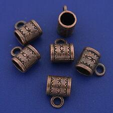 30pcs antiqued copper tone cup bails connector h3347