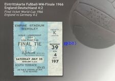 Original Endspielticket WM 1966 in England + TOP-Repro