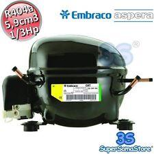 3S MOTORE Compressore EMT2125GK FRIGOR gas R404A 1/3 Hp 5,9 cc cm Embraco Aspera