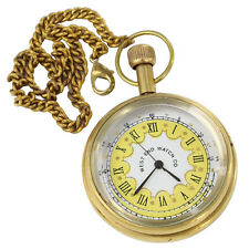 Memorable Moments Timepiece Brass Pocket Watch with Chain