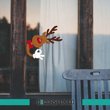 Reindeer Christmas Stickers - Christmas windows stickers - Santa's Reindeer