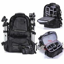 Deluxe DSLR Camera Backpack Shockproof Waterproof Bag Case For Nikon Canon Sony
