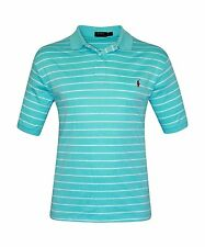 [37 84] POLO RALPH LAUREN MENS HAMMOND BLUE SOFT TOUCH PIMA GOLF SHIRT SZ 1XB