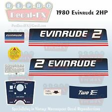 1980 Evinrude 2 HP Outboard Reproduction 8 Piece Marine Vinyl Decals 2RCS