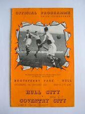 Hull City v Coventry City 1951/1952 - Football Programme