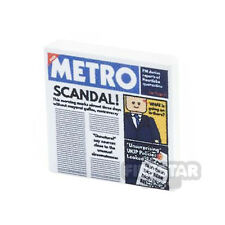 LEGO Custom Printed LEGO Tile - 2x2 Metro Newspaper