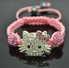 Big sale!!Crystal Lovely Cat Girl Childen kids Shamballa Bracelet fashion GIFT