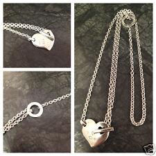 Schöne Silberkette von Esprit 925 er Sterling Silber Kette mit Herzanhänger