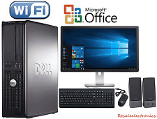 Fast Dell Desktop PC Computer Dual Core 3.4Ghz 8GB 2TB Win 10 Pro WIFI monitor
