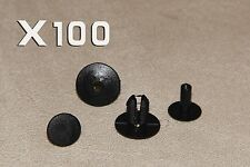 100PCS 8MM ROVER Clips Rivets- Interior Trim Panels, Carpet&Linings