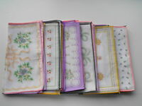6 Pack Ladies Floral Print Assorted Handkerchiefs Hankies Handkies