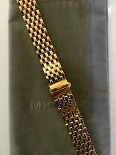 MICHELE MILOU PARK + DECO 16mm Gold watch bracelet - Classic Style - Retail $600
