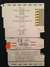 Beckhoff EL2622, 2 x Relay. up to 230V AC/DC. 2A Switching Current Induct (WAGO)