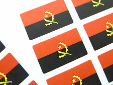Mini Sticker Pack, Self-Adhesive Angola Flag Labels, FR60