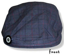 NO DOUBT - PLAID CABBIE DRIVING HAT CAP WITH LOGO PIN - NEW SMALL MEDIUM S/M