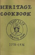 *COVENTRY CT 1976 GIRL SCOUT TROOP 5253 HERITAGE COOK BOOK *CONNECTICUT RECIPES