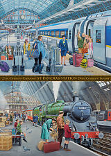 NEW! Ravensburger St Pancras Now & Then 1000 piece nostalgic train jigsaw puzzle