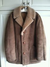 ABERCROMBIE & FITCH Mens VINTAGE Shearling Suede Leather Jacket Sz 40 SAWYER