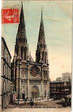 CPA PARIS 19e - Eglise de St-Jean-Baptiste de Belleville (302468)