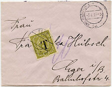 AUSTRIA POSTAGE DUE 1919 JANUARY OVERPRINT T INTERNAL UNPAID 20h