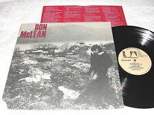 Don McLean - Self-Titled S/T, 1972 Rock LP, VG+, Original United Artists, Vinyl