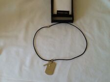mans necklace,leather + stainless steel,Equilibrium,,new,+ gift bag