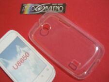 Custodia Cover Per HUAWEI SONIC U8650 Silicone Gel Trasparente BIANCO C8650
