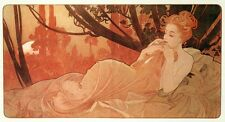 Dusk Alphonse Alfons Mucha Nude Reproduction Art Nouveau Deco Picture Print NEW